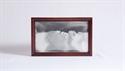 Obrazek W-026: Obrazek piaskowy oprawiony w ramę drewnianą (19x30 cm)